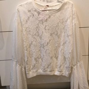 Light long sleeve lace top